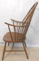 Ercol Elm Windsor Style Stickback Kitchen Armchair